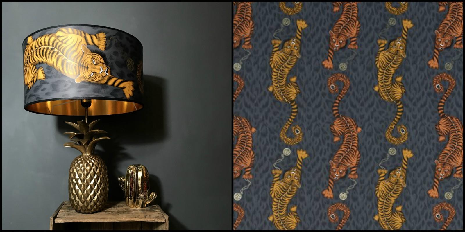 Handmade Tiger Lampshade