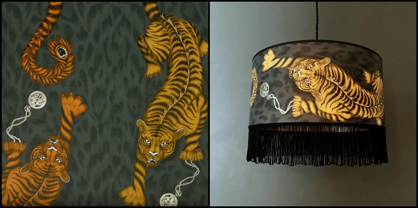 Tigris Lampshadae with decadent Black Fringing