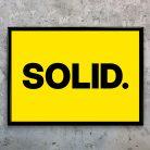 Typographic Art Print - SOLID