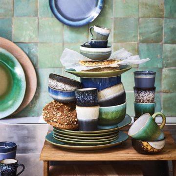 70's inspired ceramic bowl