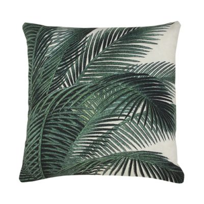 Tropical Palm leaves cushion