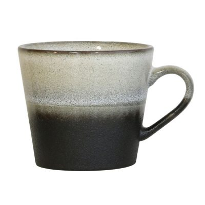 ceramic 70's cappuccino mug: rock