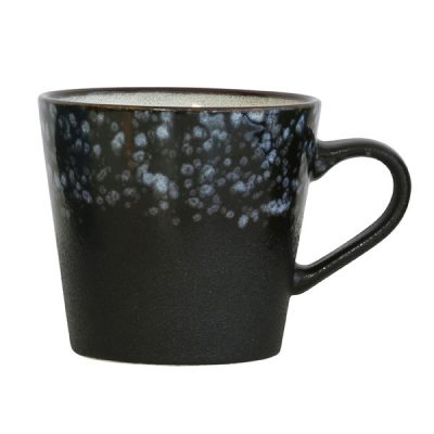 ceramic 70's cappuccino mug: galaxy
