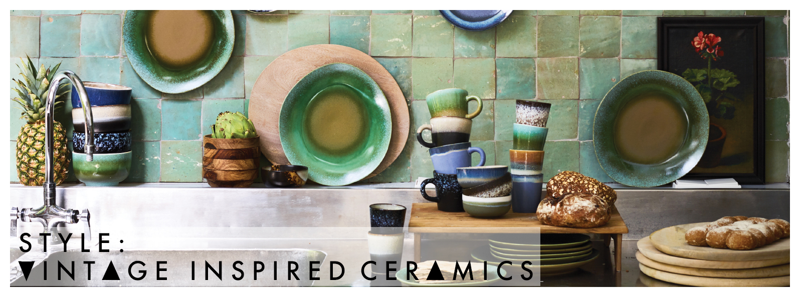 70's inspired ceramics collection