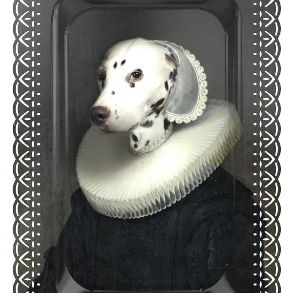 ARTHENICE THE DALMATIAN PORTRAIT TRAY ARTWORK FROM IBRIDE