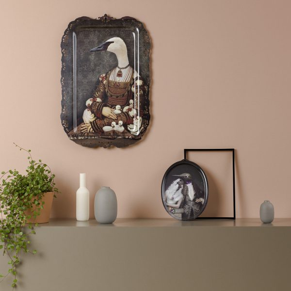 Bianca the swan portrait artwork tray
