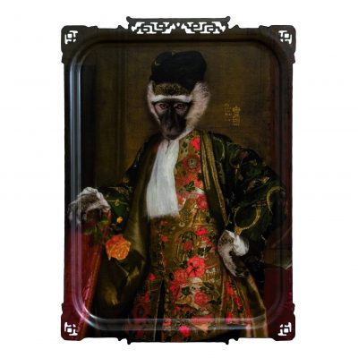 CORNELIUS THE MONKEY PORTRAIT TRAY ARTWORK FROM IBRIDE