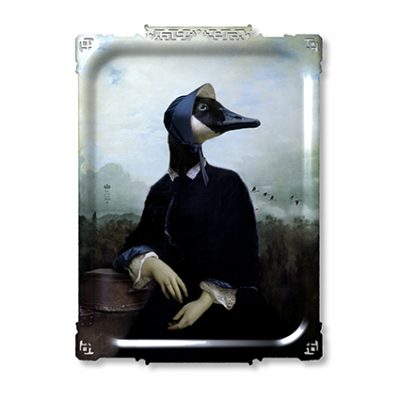 MADAM BERNACHE THE GOOSE PORTRAIT TRAY ARTWORK FROM IBRIDE