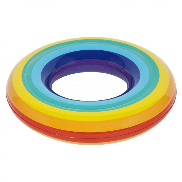 Awesome Kids Inflatable Rainbow Pool Ring