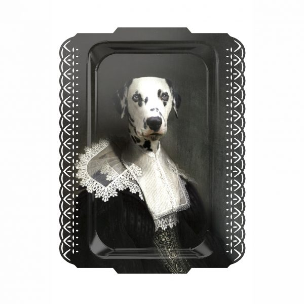 SAPHO THE DALMATIAN PORTRAIT TRAY ARTWORK FROM IBRIDE