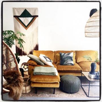 Tropical Palm leaves cushion