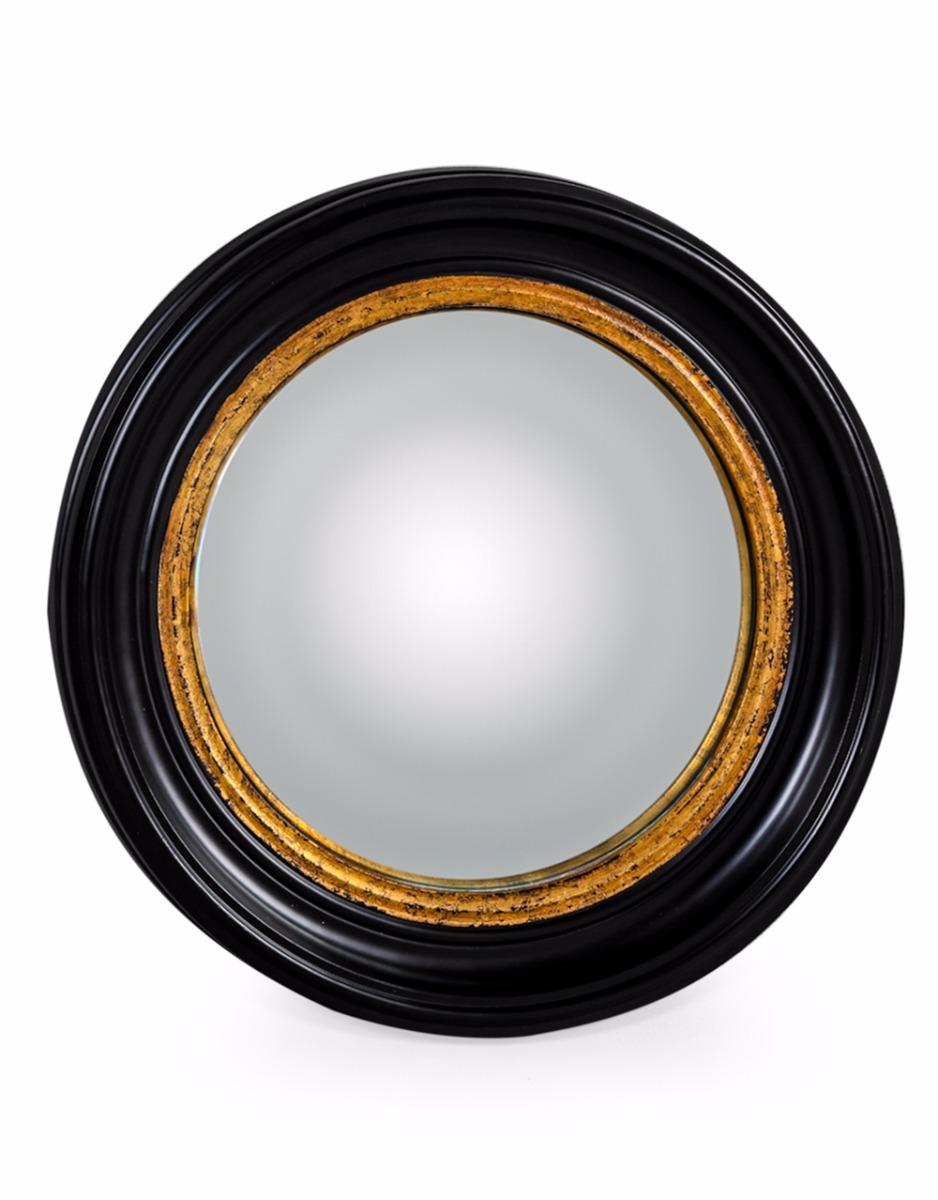 Statement Black And Gold Convex Mirrors Love Frankie