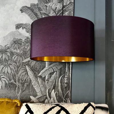 Damson and Gold handmade lampshade