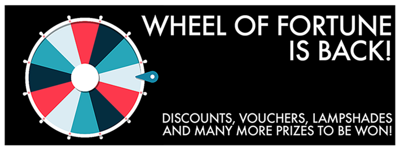 Wheel of Fortune Discount Game only at Love Frankie