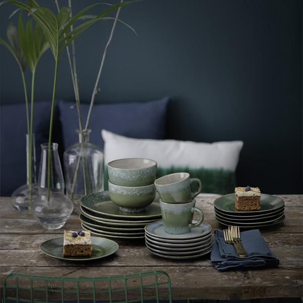 70s inspired ceramic bowl - Grass