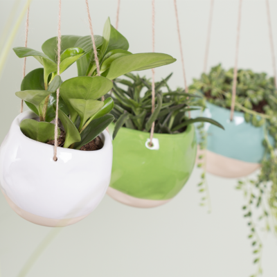 Ceramic dipped hanging planters - Available in three colours