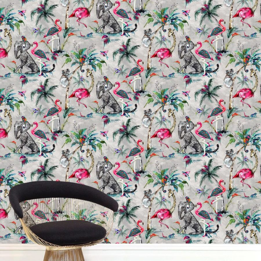 Muck N Brass ChiMiracle Wallpaper - Light Grey