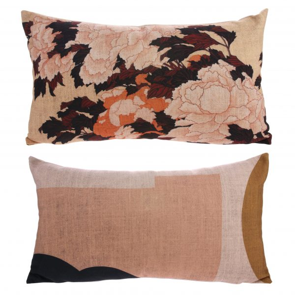 Toyko Japanese inspired blossom Bolster cushion