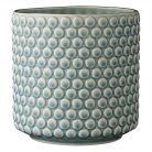 Pale blue bubble dot vase