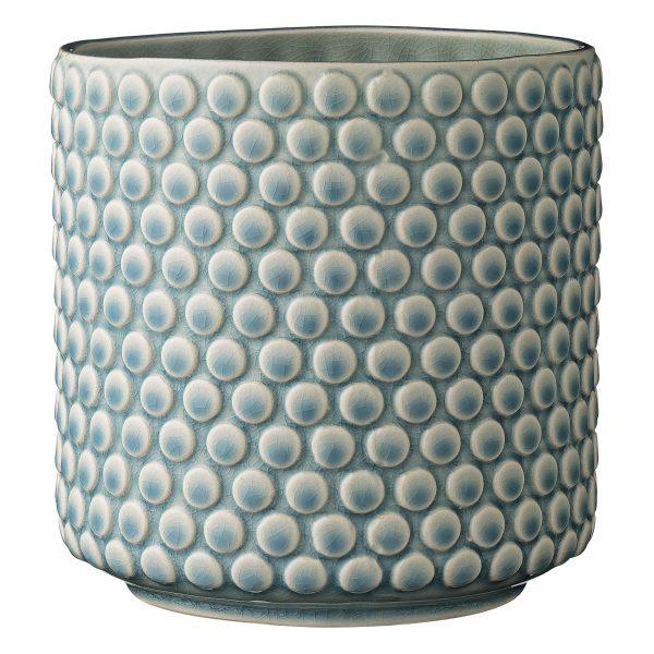 Pale blue bubble dot vase
