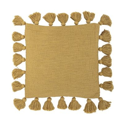Tassels Cushion in Mustard Yellow