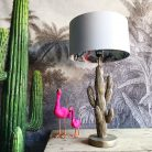 Silver ChiMiracle Wallpaper Silhouette Lampshade in Cloud Grey