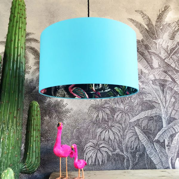 Midnight ChiMiracle Wallpaper Silhouette Lampshade in Sky Blue