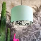 Furtiva Lagrima Wallpaper Silhouette Lampshade in Sage Green