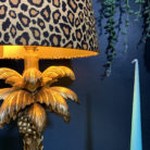 leopard print French drum lampshade
