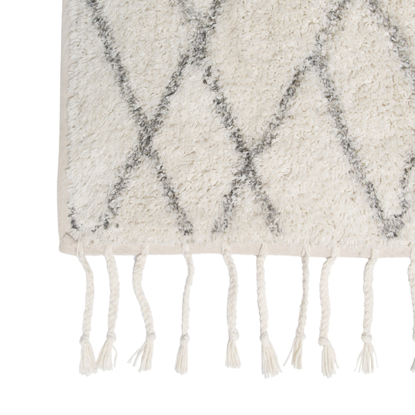Berber Style Rug with Tassels