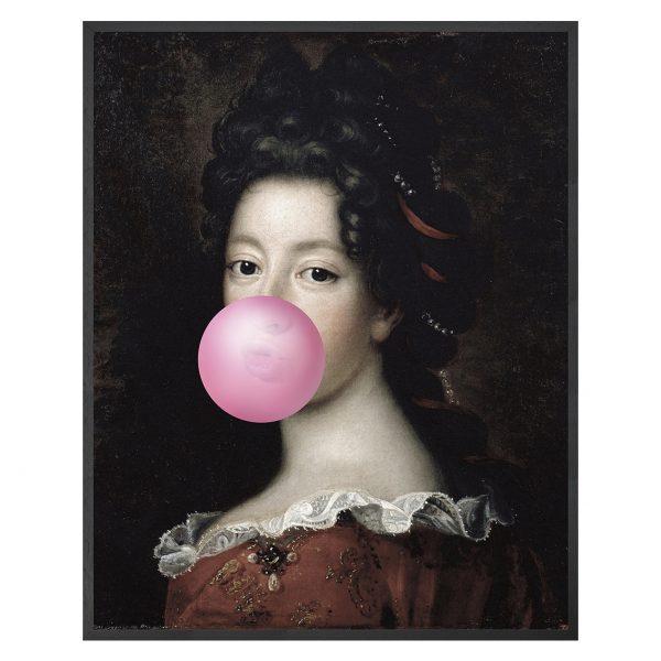 Bubblegum Portraits - 1 Framed Canvas Artwork Large