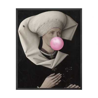 Bubblegum Portraits - 2 Framed Canvas Artwork Medium