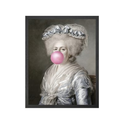 Bubblegum Portraits - 4 Framed Canvas Artwork Small