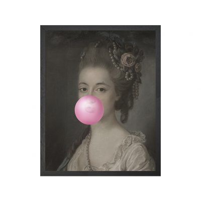 Bubblegum Portraits - 5 Framed Canvas Artwork Small