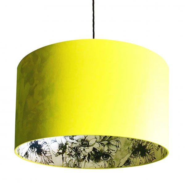 Furtiva Lagrima Wallpaper Silhouette Lampshade in Sunshine Yellow