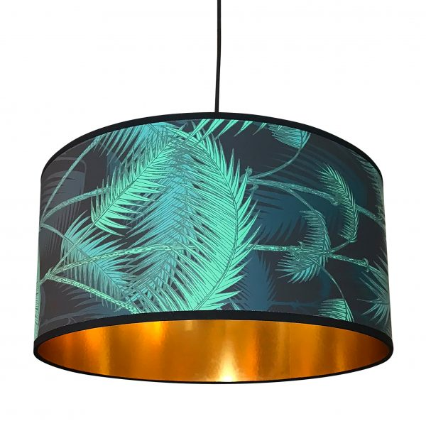 Cole & Sons Palm jungle and gold lined Lampshade