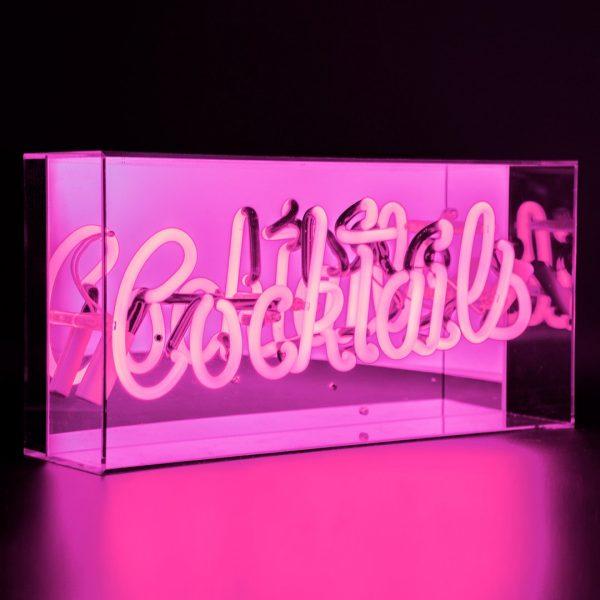 Neon Light Cocktails Acrylic Light Box