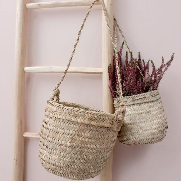 Woven bohemia hanging planters