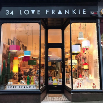 Love Frankie Lighting and interiors boutique in Totnes High Street, Devon