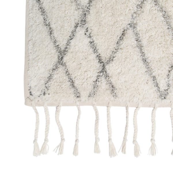 Large Berber Style Rug With Tassels