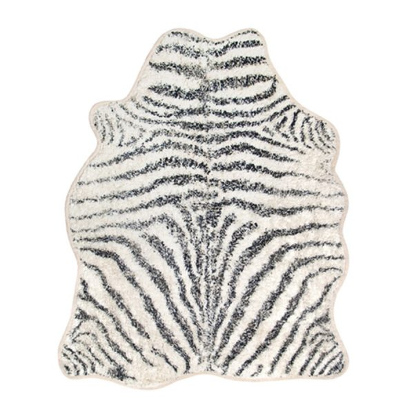 statement zebra print rug