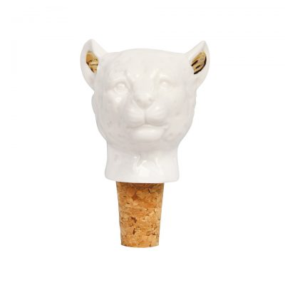 Porcelain Leopard Bottle Stopper