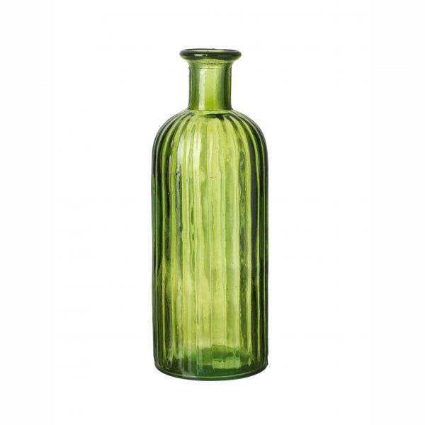 Green Glass Bottle - Large