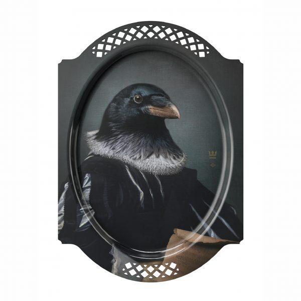 Ibride Portrait Tray - Le Corbeau