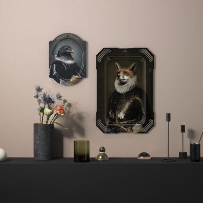 Ibride Portrait Tray - Le Corbeau & Le Renard