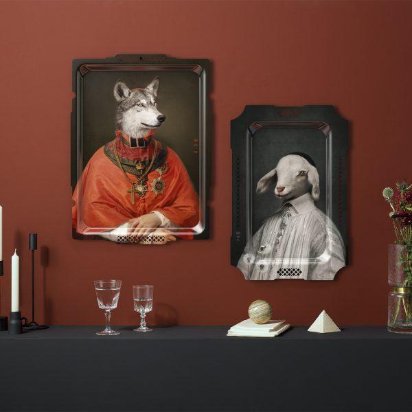 Ibride Portrait Tray - Le Loup & L'Agneau