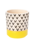 Mini Pastel Planter - Yellow with Chevrons