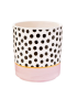 Mini Pastel Planter - Pink with Dots