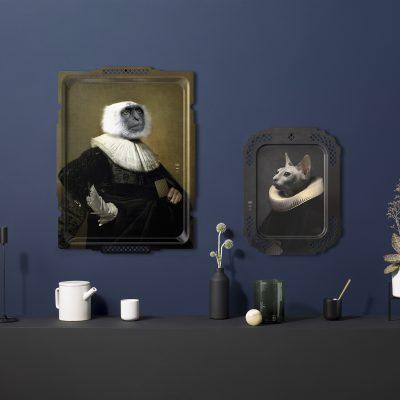 Ibride Portrait Tray - Le Chat & Le Singe