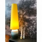 Sunshine Yellow King & Queen Oversized Cone Lampshades. Handmade by Love Frankie